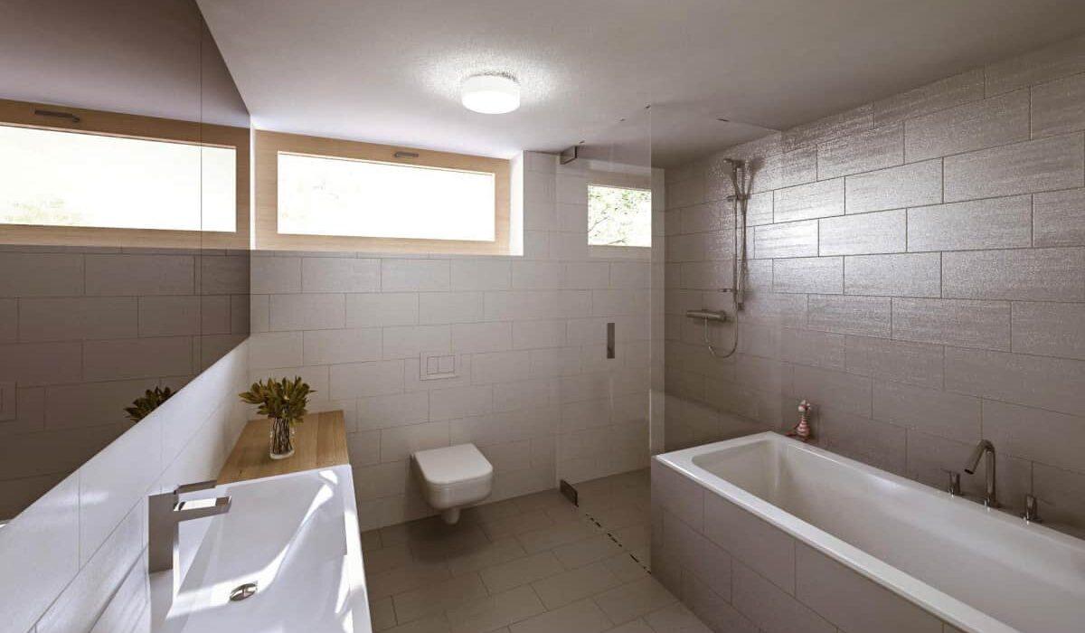 Koupelna v patře